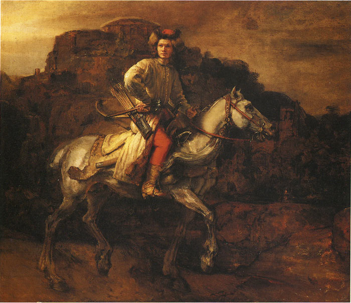 Rembrandt  Reproductions-The so-Called Polish Rider, 1655