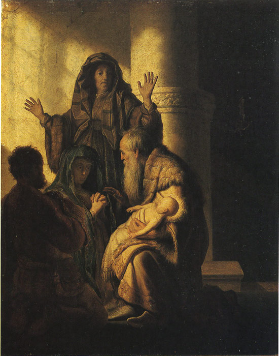 Rembrandt  Reproductions-The Presentation of Jesus in the Temple, 1627
