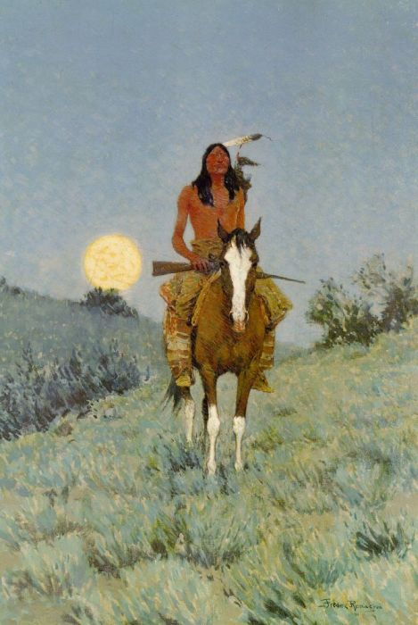Frederic S. Remington Reproductions-The Outlier, 1909
