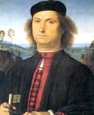 Pietro Perugino Reproductions-Portrait of Francesco delle Opere, 1494