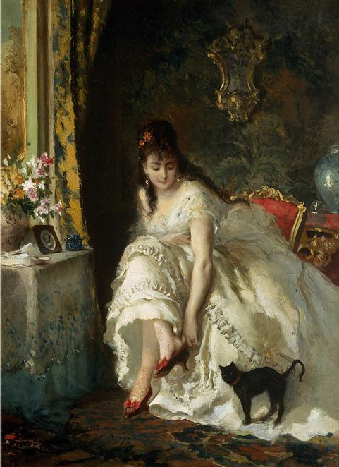 Paintings Reproductions Rossi, Lucius In the boudoir, 1869