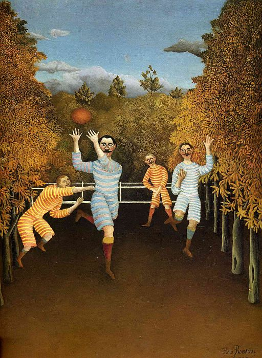 Henri Rousseau Reproductions-The Football players, 1908