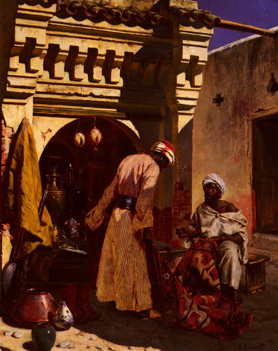 Rudolf Ernst Reproductions-The Rug Merchant