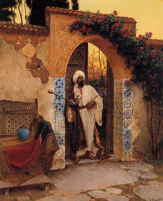 Rudolf Ernst Reproductions-By the Entrance