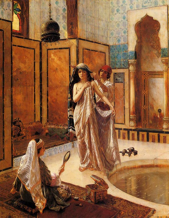 Paintings Reproductions Ernst, Rudolf The Harem Bath
