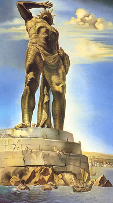 Salvador Dali Reproductions-The Colossus of Rhodes, 1954