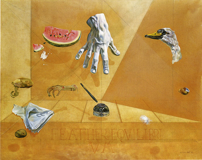 Paintings Reproductions Dali, Salvador Feather Equilibrium 1947