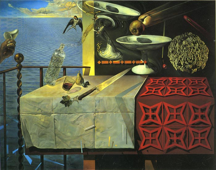 Paintings Reproductions Dali, Salvador Living Still Life, 1956