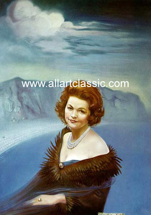 Salvador Dali Reproductions-Portrait of Mrs. Ruth Daponte, 1965