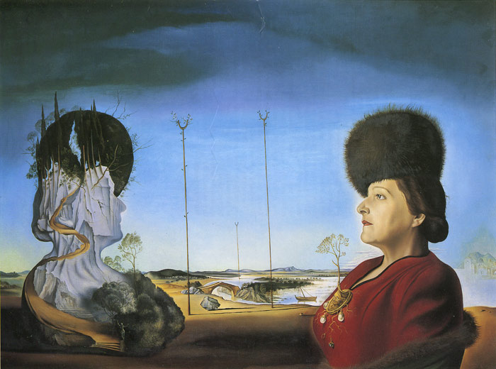 Salvador Dali Reproductions-Portrait of Mrs. Isabel Styler-Tas, 1945