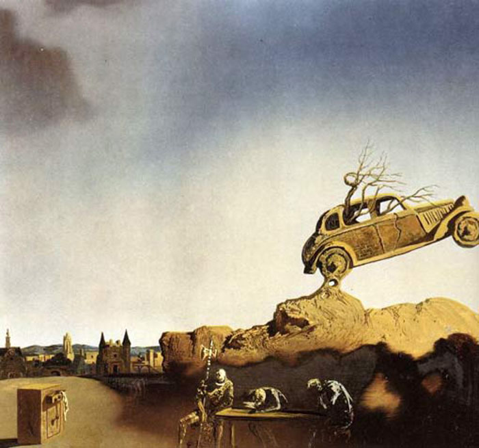 Salvador Dali Reproductions-Apparition of the Town of Delft, 1936