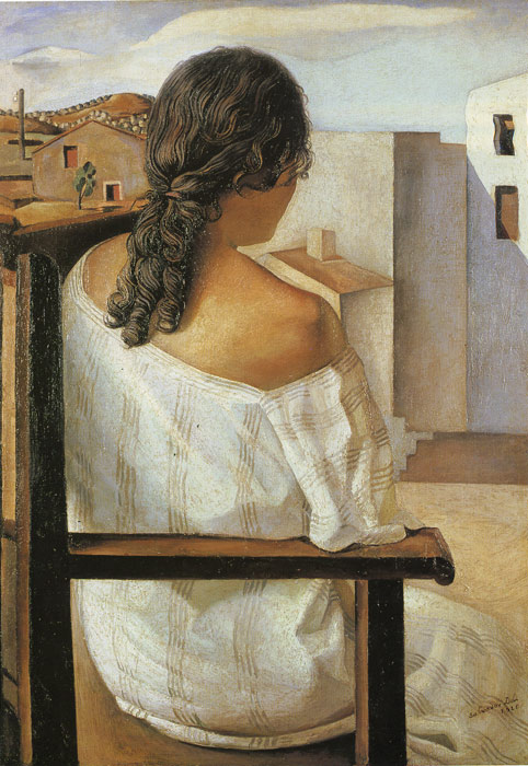Salvador Dali Reproductions-Girl from the Back
