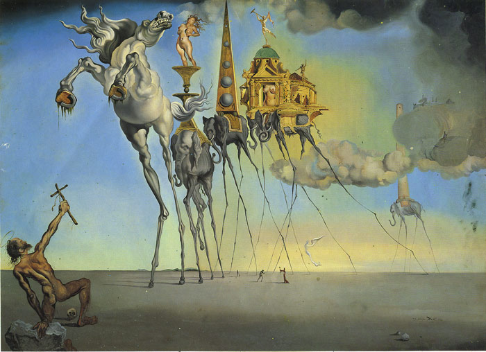 Salvador Dali Reproductions-The Temptation of St. Anthony