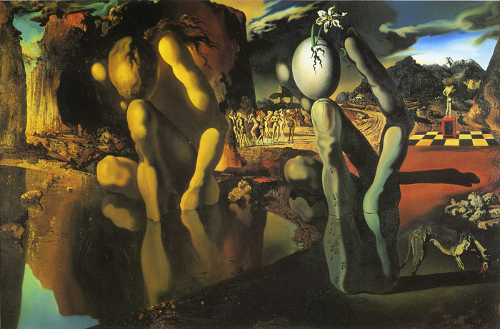 Salvador Dali Reproductions-Metamorphosis Of Narcissus