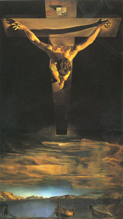 Salvador Dali Reproductions-Christ of St. John of the Cross, 1951