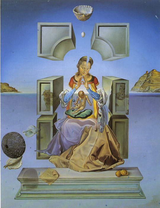 Salvador Dali Reproductions-First Study For the Madonna of Port lligat, 1949