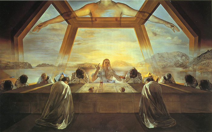Salvador Dali Reproductions-The Sacrament of the Last Supper, 1955