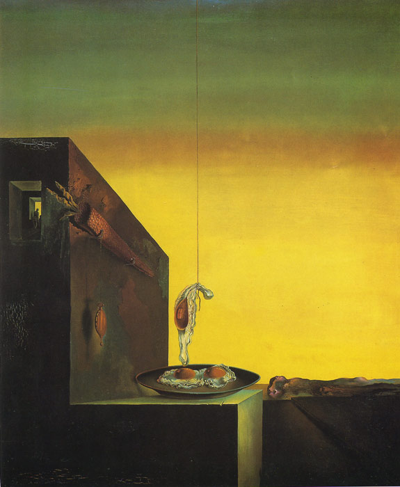 Salvador Dali Reproductions-Fried Eggs in a Plate Without the Plate
