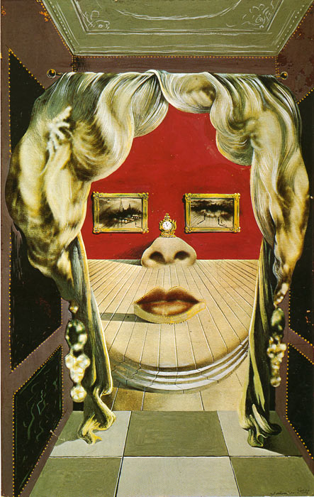 Salvador Dali Reproductions-Mae West, 1934