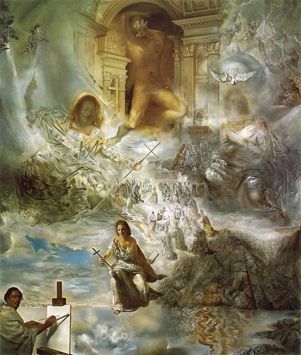 Salvador Dali Reproductions-The Ecumenical Council, 1960