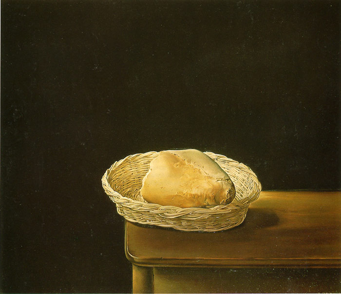 Salvador Dali Reproductions-Bread-Rather Death Than Shame, 1945