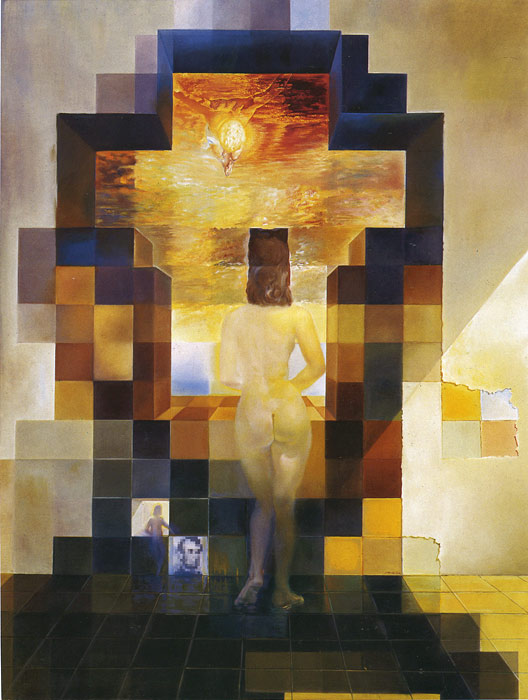 Paintings Reproductions Dali, Salvador Gala Contemplating the Mediterranean Sea Which at Twenty Meters Becomes the Portrait of Abraham Lincoln, 1976