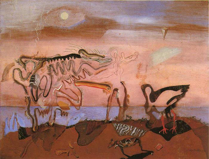 Paintings Reproductions Dali, Salvador The Spectral Cow, 1928