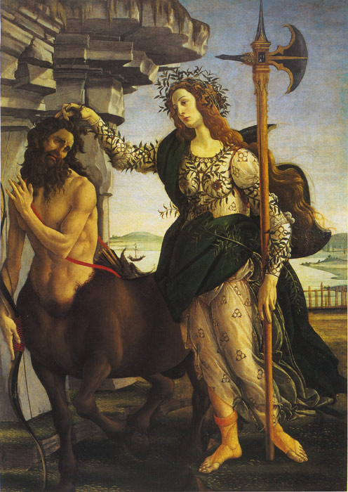 Pallas and the Centaur, c.1480 Botticelli, Sandro Painting Reproductions