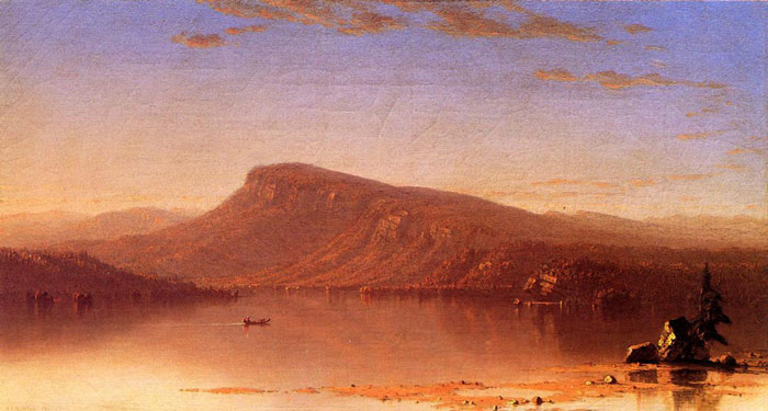 Sanford Robinson Gifford  Reproductions-In the Wilderness, Twilight, c.1860