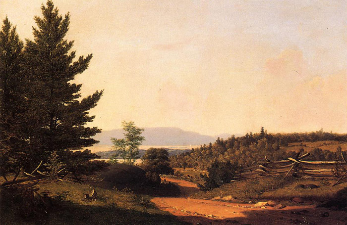 Paintings Reproductions Gifford, Sanford Robinson Road Scenery near Lake George, 1849