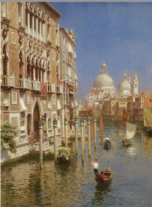 Santoro Oil Paintings The Grand Canal Venice