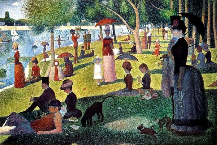 Custom PaintingsReproductions-Sunday Afternoon on the Island of La Grande Jatte, 1884