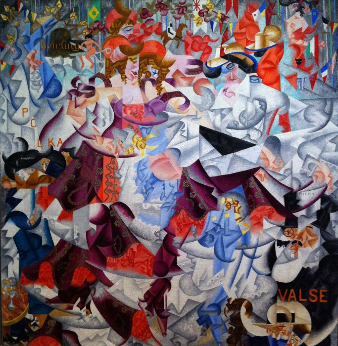 Custom PaintingsReproductions-Gino Severini - Waltz