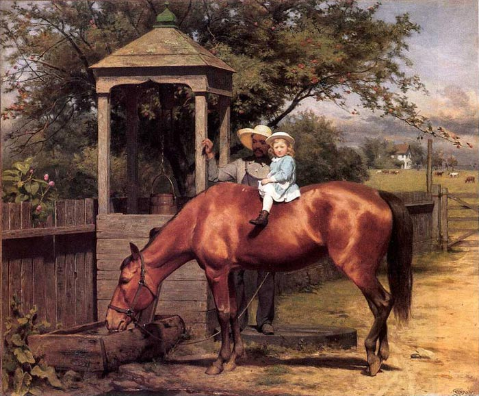 Paintings Reproductions Guy, Seymour Joseph Equestrian portrait