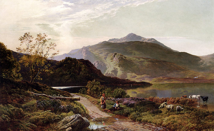 A Rest On The Roadside, 1861 Percy, Sidney Richard Painting Reproductions