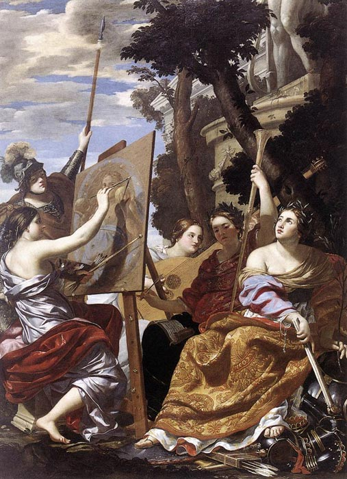 Simon Vouet Reproductions-Allegory of Peace, c. 1627