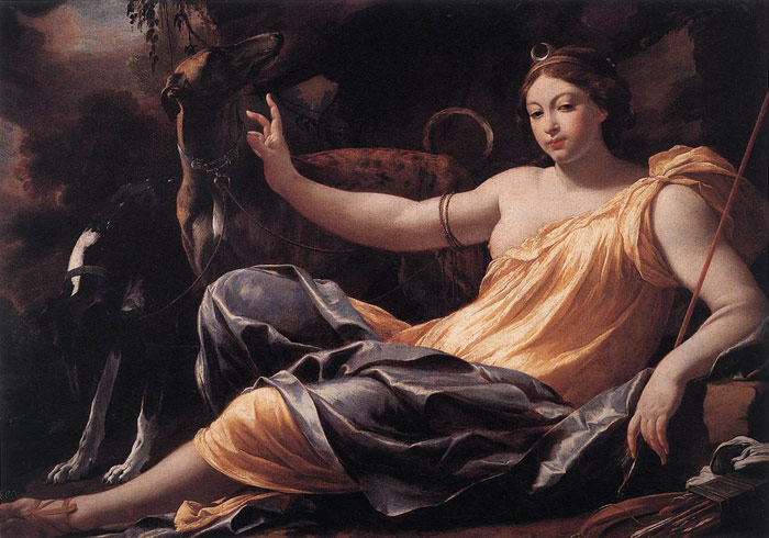 Simon Vouet Reproductions-Diana, 1637