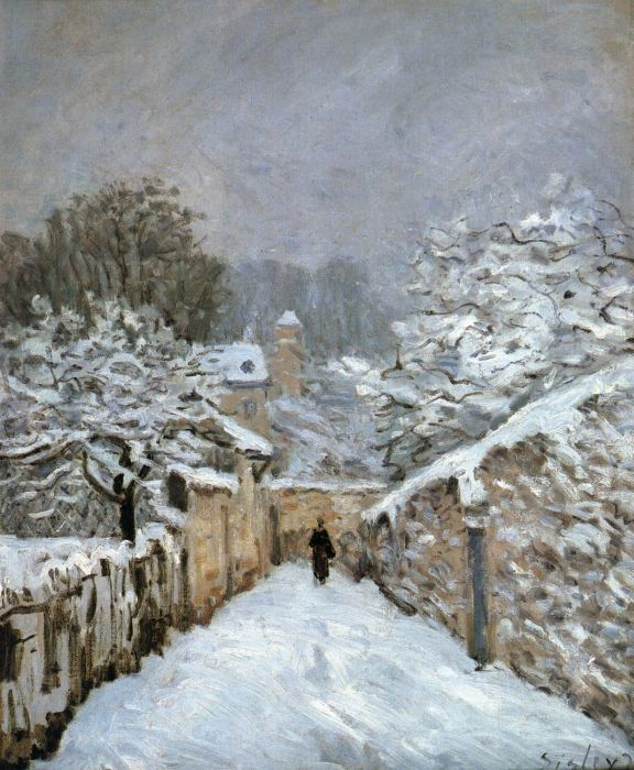 Alfred Sisley Reproductions-The Snow at Louveciennes, 1878