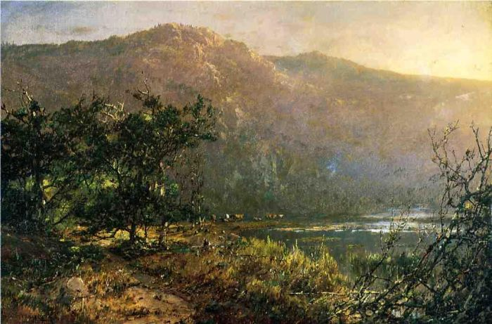 Paintings Reproductions Sonntag, William Louis Gathering at Sundown