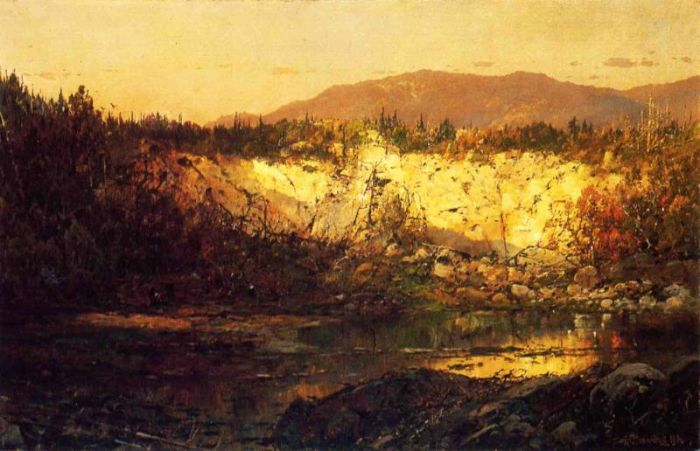 Paintings Reproductions Sonntag, William Louis Shadows Rising and Sun Setting, New Hampshire