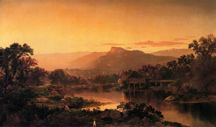 Paintings Reproductions Sonntag, William Louis River View , 1864