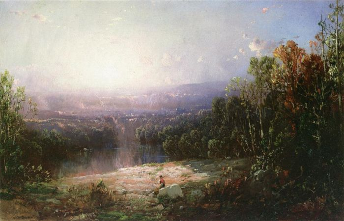 Paintings Reproductions Sonntag, William Louis In the Wilderness