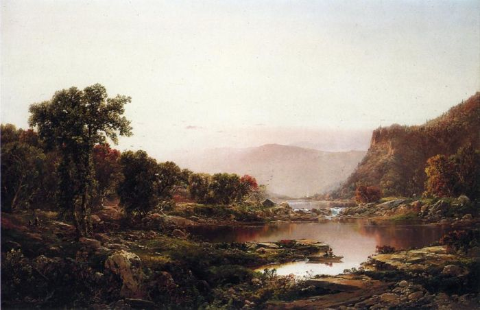 Paintings Reproductions Sonntag, William Louis Afterglow, Massanutten Mountains , 1865