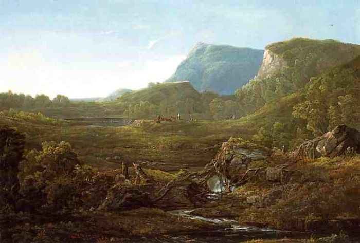 Valley Landscape (aka Cincinnati) , 1852 Sonntag, William Louis Painting Reproductions