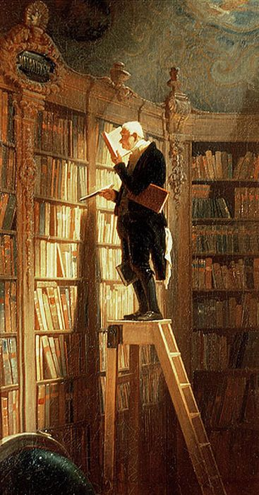 Paintings Reproductions Spitzweg Carl The Book Worm, 1850
