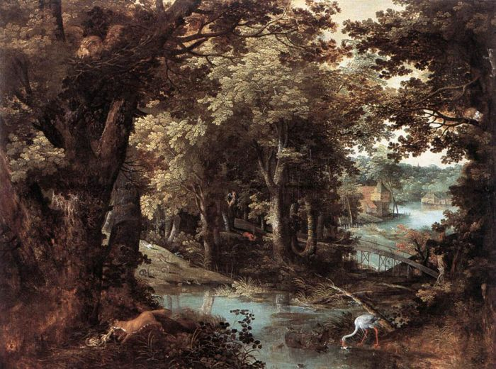Adriaan van Stalbemt Reproductions-Landscape with Fables, 1620