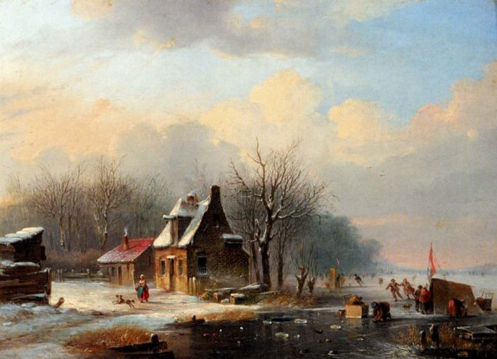 Paintings Reproductions Stok, Jacobus Van Der  Winter