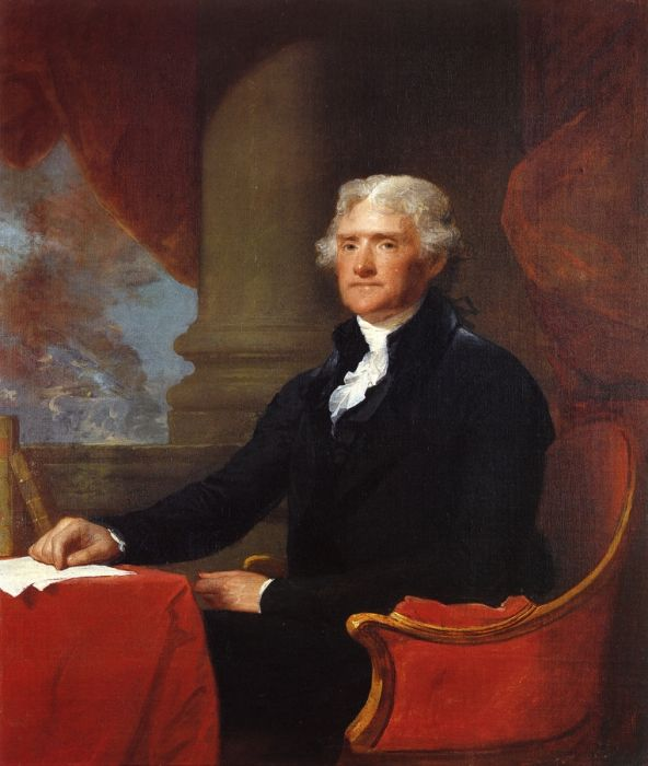 Gilbert Charles Stuart Reproductions-Thomas Jefferson, 1805