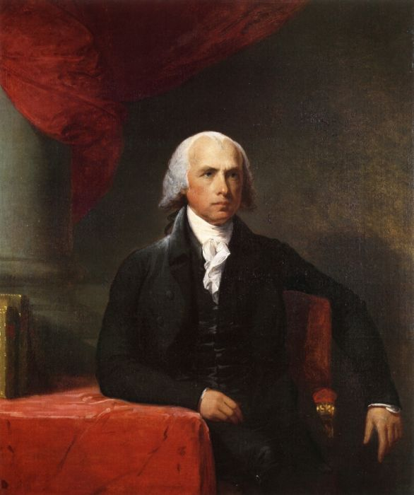 Gilbert Charles Stuart Reproductions-James Madison, 1805