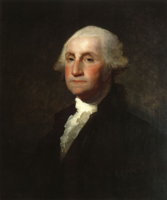 Gilbert Charles Stuart Reproductions-George Washington, 1803